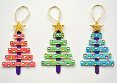 Popsicle Christmas Trees
