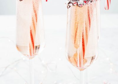 Peppermint Bark Mimosas